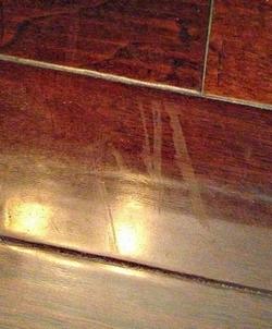 Worn wood floor